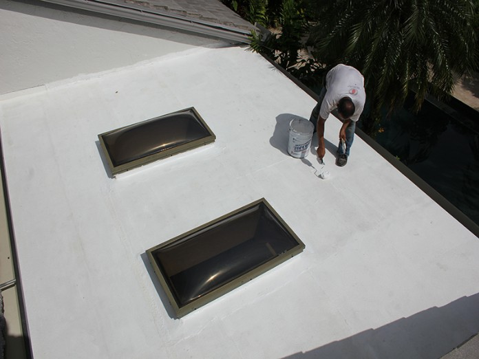 Liquid Rubber Services for flat roofs - America on the Roof.com